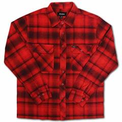 Brixton Archie LS Flannel Red/Burgundy