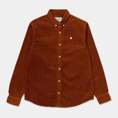 Carhartt LS Madison Cord Shirt Brandy/Wax