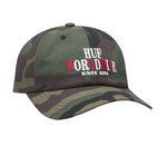 Huf Or Die Curved Visor 6 Panel H Woodland Camo