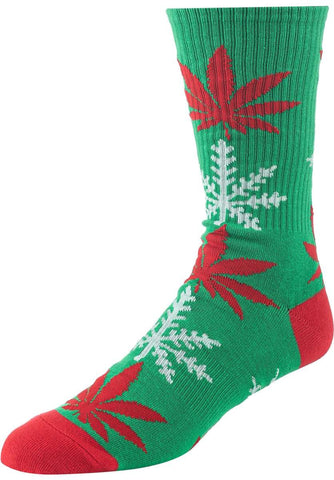Huf Glow Flake Plantlife Sock Green