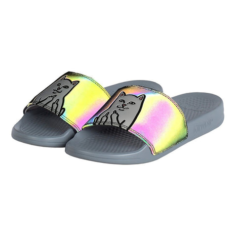 RipNDip Nermal  Slides Iridescent Black