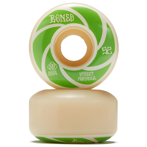 Bones Wheels V1 99a Green Patterns 52mm