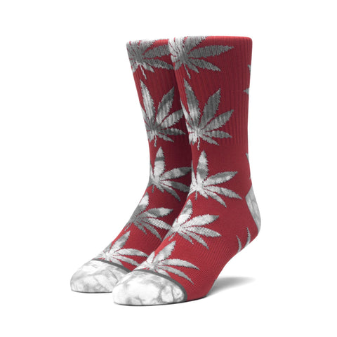 Huf Tie Dye Leaves Plantlife Socks Rosewood Red