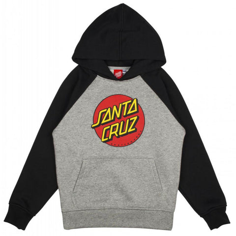 Santa Cruz Youth Classic Dot Raglan Hood