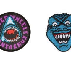 Santa Cruz Speed Wheels Shark Patch 2-Pack