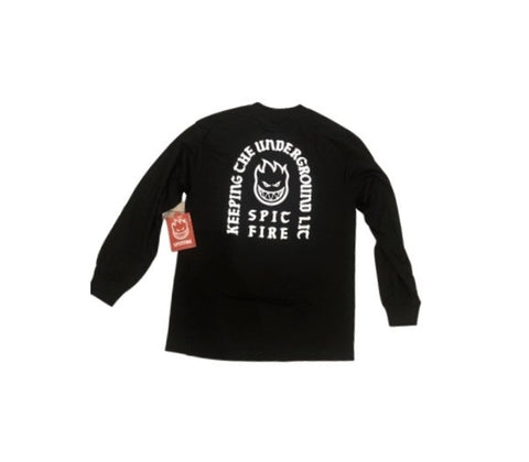 Spitfire Longsleeve Steady Rockin Black/White