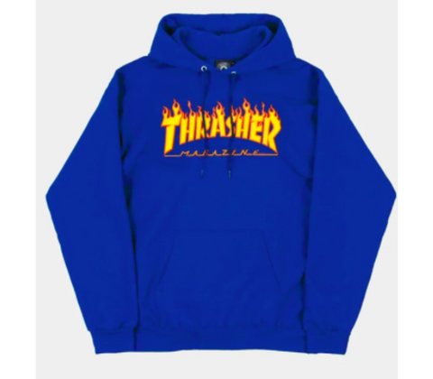 Thrasher Flame Hood Royal Blue