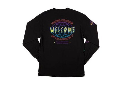 Welcome Global Longsleeve Tee Black