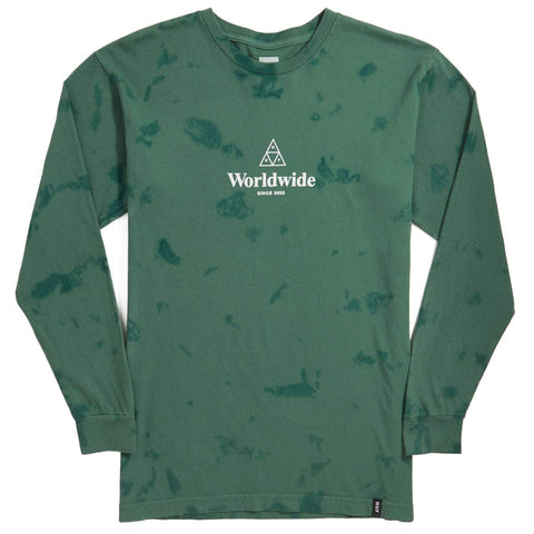 Huf Worldwide TT Tiedye Longsleeve Botanical Green