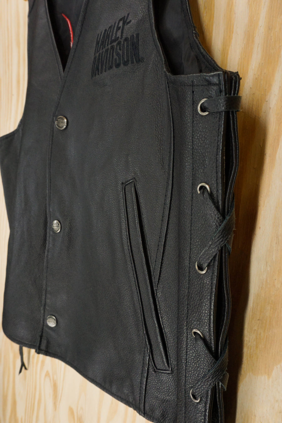 "Leather vest Harley Davidson ""spider"" - size M/L"