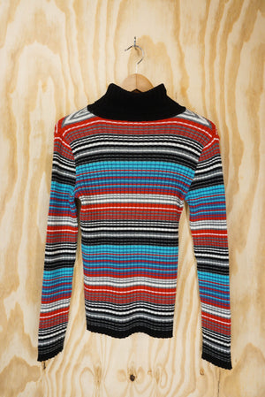 Turtle top multi colour knit - size S/M