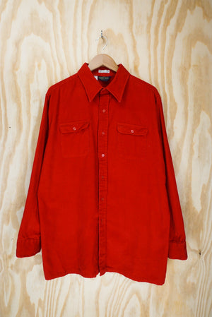 Corduroy shirt bright red- size XL