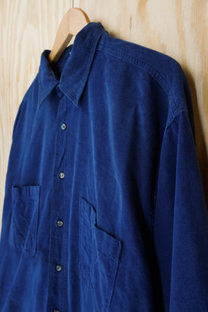 Corduroy shirt bright blue - size XL