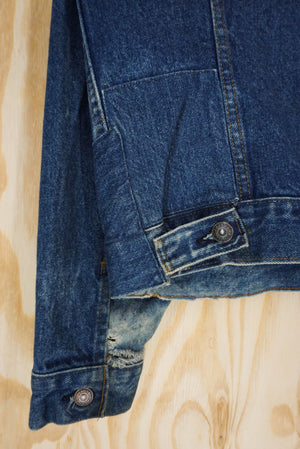 Levis denim jacket destroyed  - size M