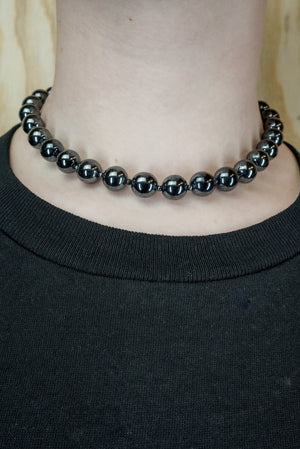 Necklace 80's pearl chain