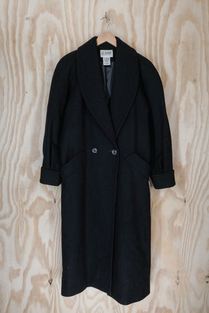 Black wool coat - size L