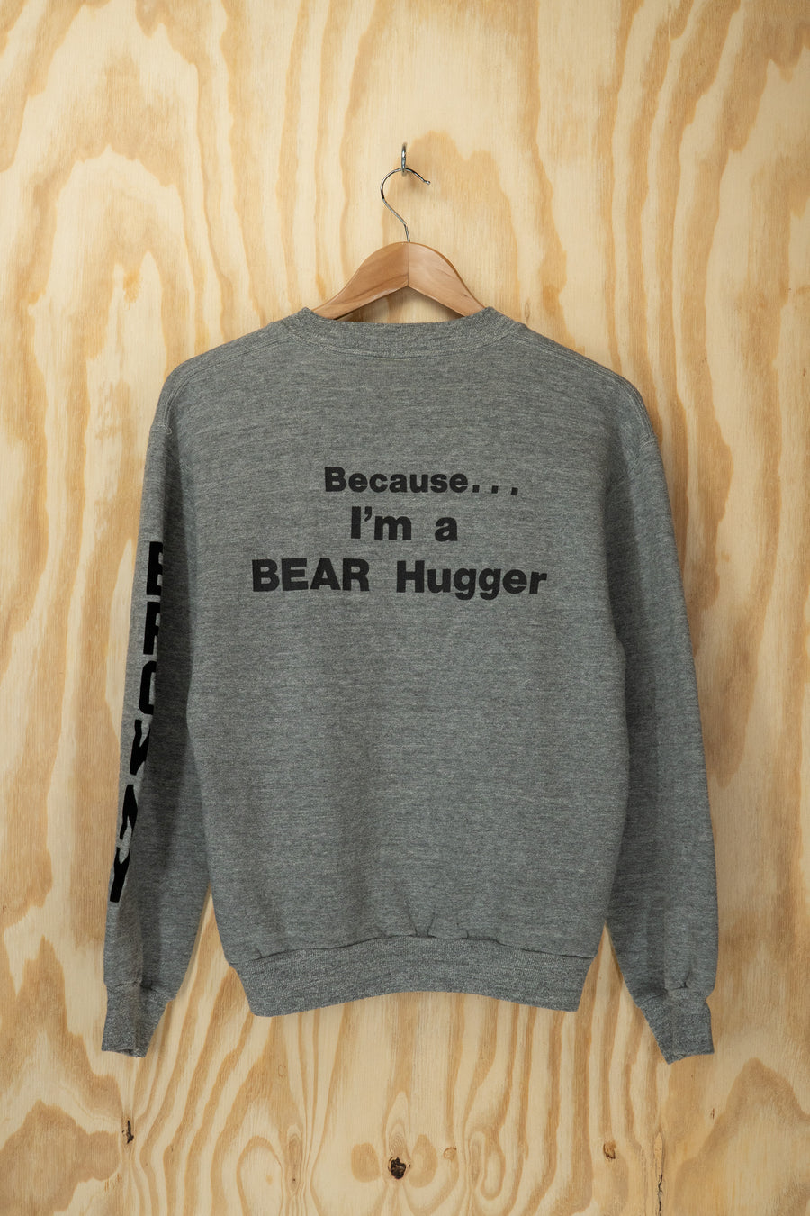 Bear 'i love wrestlers' sweatshirt - size M