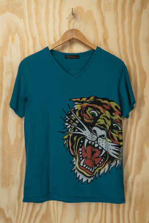 Ed Hardy top bling 'tiger' - size M/L