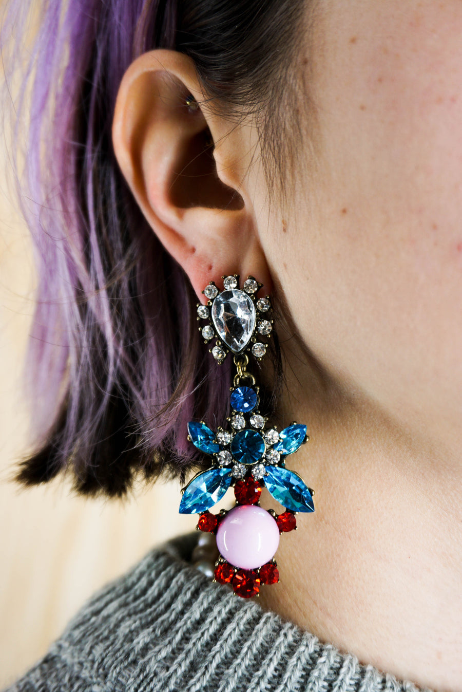 "Earrings multicolored ""diamonds"""