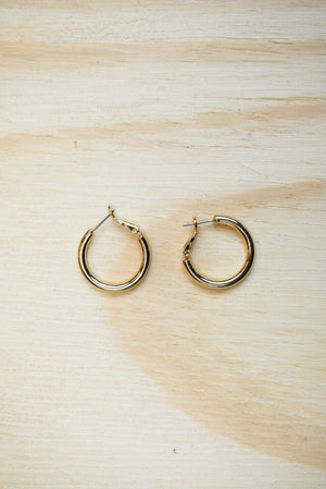 "Earrings ""gold"" hoop"