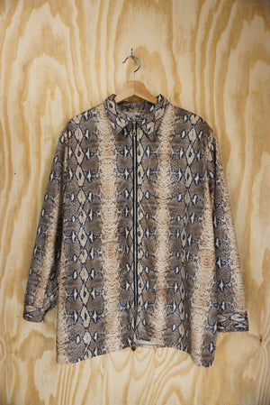 Shiny snake blouse - size L/XL