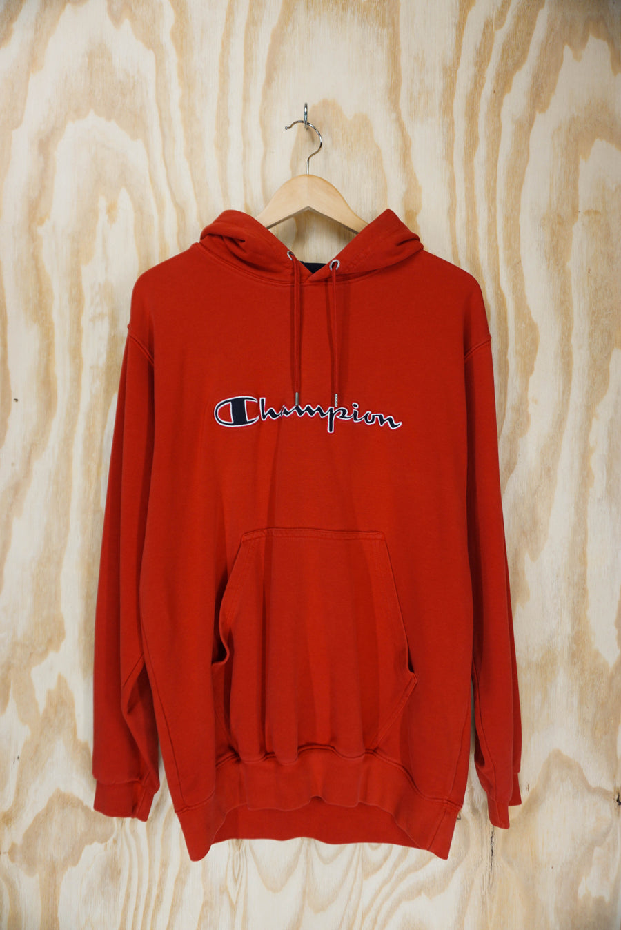 Champion embroidered logo hoodie - size L