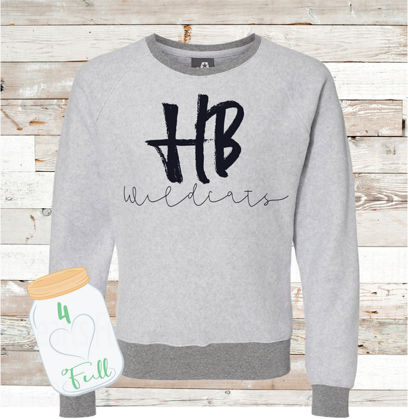 Adult HB Wildcats Inside Out Sweatshirt