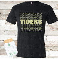 Tiger Word Art Comfy Tee