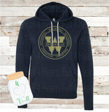 Adult and Youth Circle West Wolverines Navy or Grey Hoodie