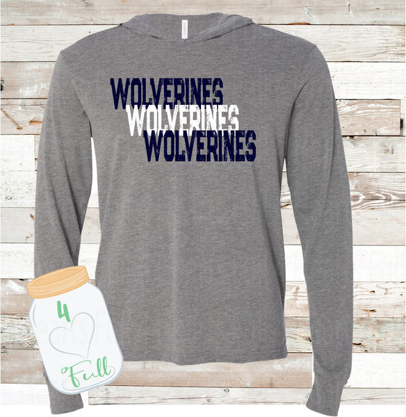 Wolverines Hooded long sleeve Tee