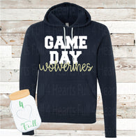 Adult and Youth Game Day Wolverines Navy or Grey Hoodie