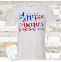 America America God Shed His Grace On Thee Tee Unisex Adult
