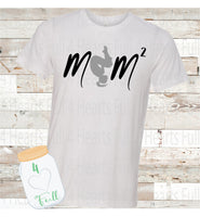 Gymnastics/Cheer Mom Squared (2 Kiddos) Personalize for more kids Tee Unisex Adult
