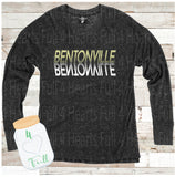Bentonville Reflection Charcoal Hooded or Crew Neck Cuddle Fleece (more sweater like)