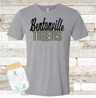 Bentonville Tigers Gray, or White Tee