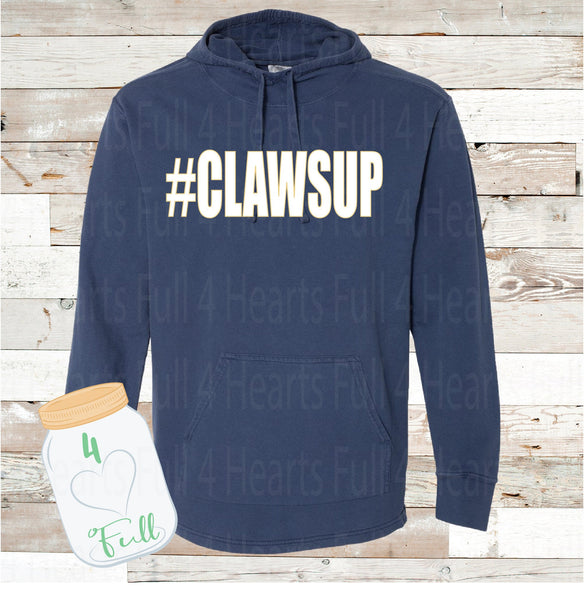 Clawsup Navy Hooded Pullover