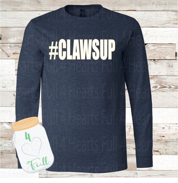 Adult and Youth Clawsup Navy long sleeve Tee
