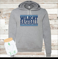 Adult and Youth Wildcat Grey Hoodie