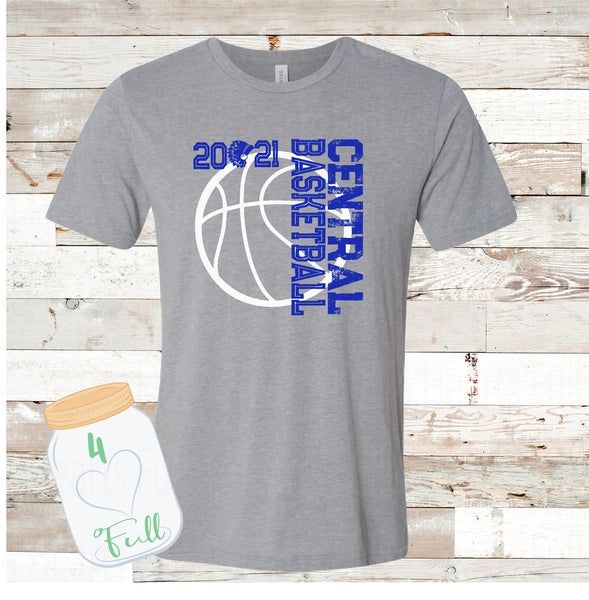 Central basketball Tee Adult and Youth