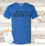 VINTAGE LOOKING Warriors Gray Tee Youth and Adult