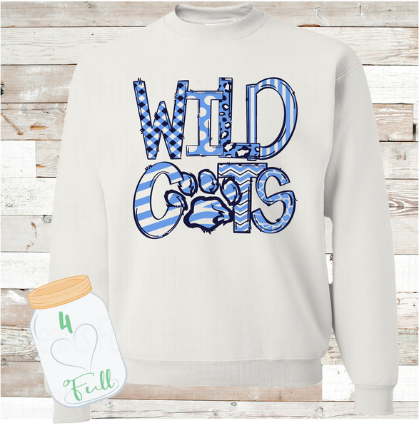 Youth and Adult Wildcats White Sweatshirt