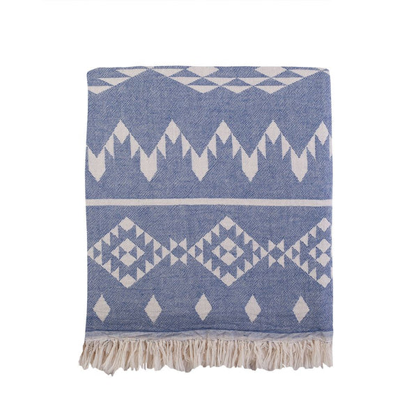Kilim Knotty Beach Blanket - Denim - Knotty.com.au
