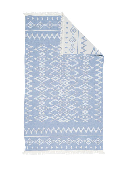 Kilim Knotty Turkish Towel - Denim