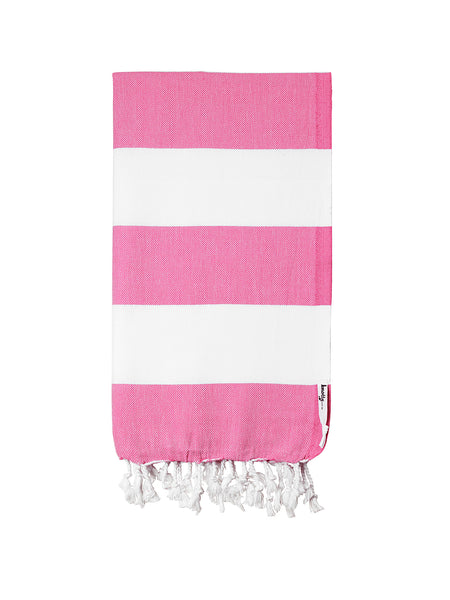 Knotty Capri Turkish Towel - BUBBLEGUM - Knotty.com.au