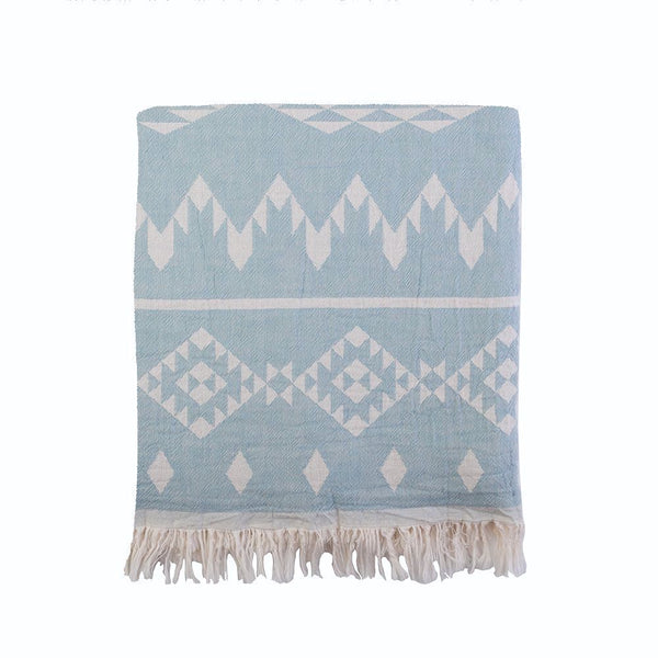 Kilim Knotty Beach Blanket - Mint - Knotty.com.au