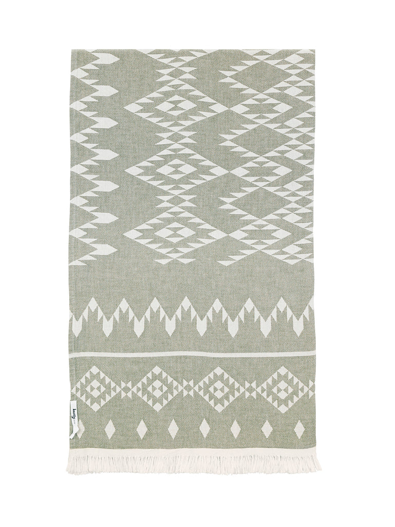 Kilim Knotty Beach Blanket - Khaki