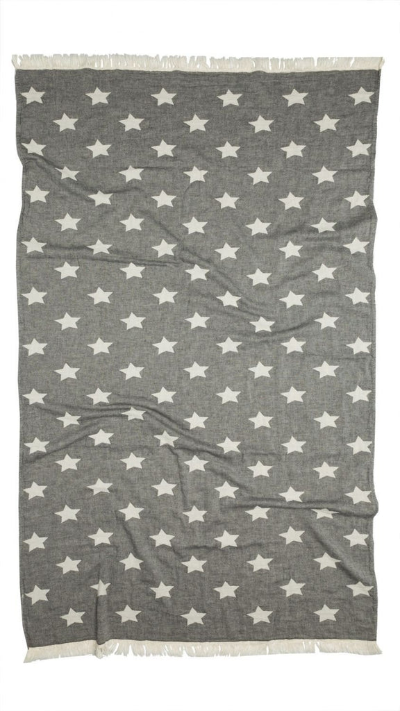 Oteki Knotty Turkish Towel - STAR Charcoal