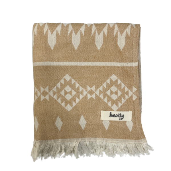 Kilim Knotty Turkish Towel - Mustard