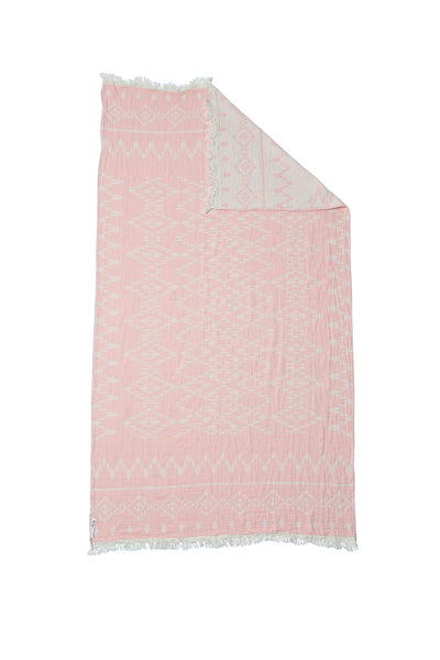 Oteki Knotty Turkish Towel - KILIM Rose Quartz - Knotty.com.au