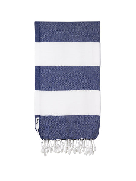 Knotty Capri Turkish Towel - NAVY - Knotty.com.au